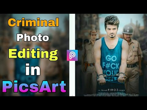 Criminal Photo Editing in PicsArt | This Video Was Given By (RK Editor  Zone) | Wanted Criminal Edit