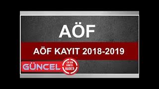 Anadolu Üniversitesi AÖF kayıt yenileme işlemleri 2018-2019