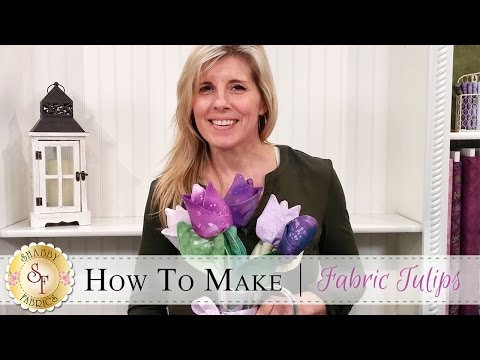 How to Make Fabric Tulips | a Shabby Fabrics Craft Sewing Tutorial