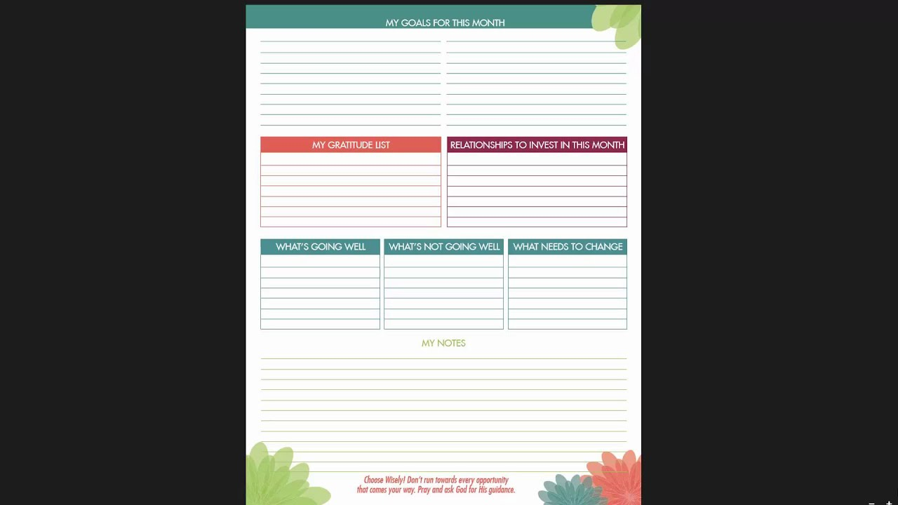 how to use the ibloom life business planner bussiness planner