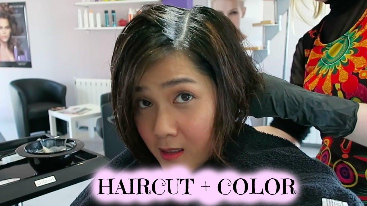 cat & potong rambut di salon /hair color & cut (indonesia) vlog