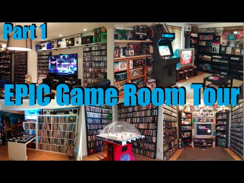 EPIC Game Room Tour 2015 - 4,500 Games 100+ Systems - PART 1