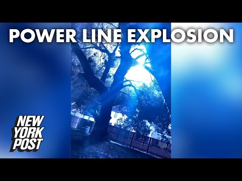 Louisiana power lines explode in shocking video | New York Post