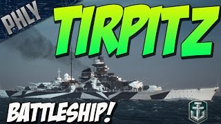 GERMAN BATTLESHIP TIRPITZS! (World Of Warships Battleship Gameplay)