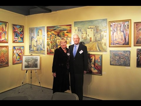 Andrey Allakhverdov Paintings at Boston Art Show 15 Nov 2014