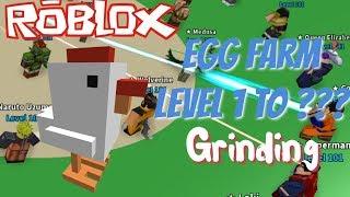 Stufe 1 zu ??? Mit LvL 1 & 100 Farmers!! Eierfarm Simulator - Roblox