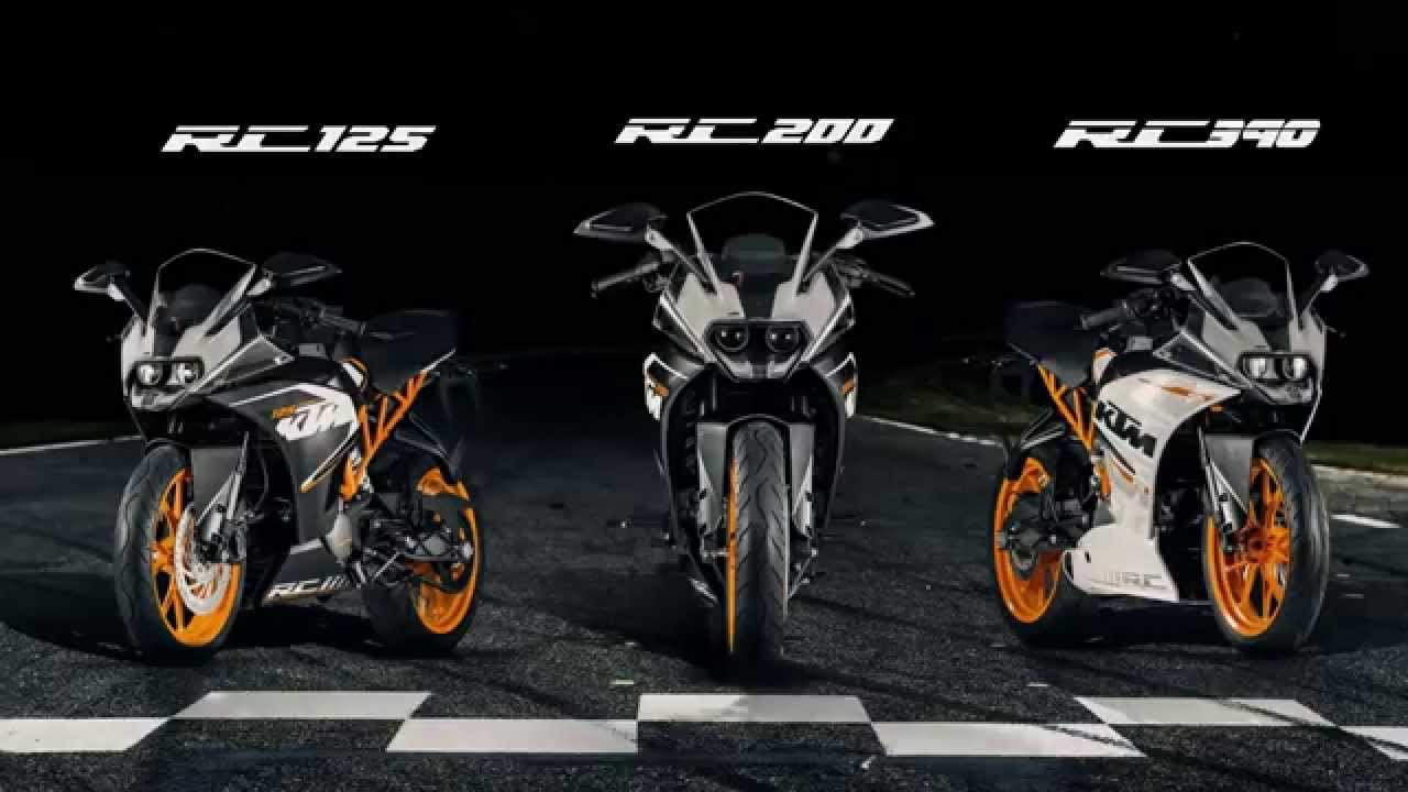 all new and ready to race ktm rc 125, rc 200, rc 390 - youtube