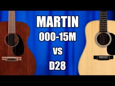 Martin 000-15m Vs D28 - Tone Comparison