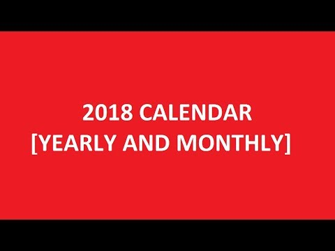2018 Calendar Printable [Yearly And Monthly]