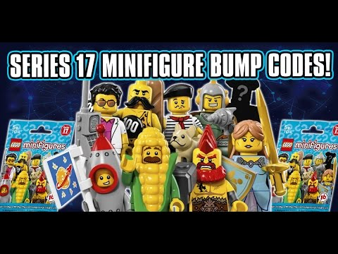 LEGO Minifigure Series 17 Bump Codes & Feel Guide! How To Find All The Minifigures!