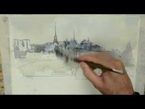 Como pintar acuarela paso a paso. . Watercolor tutorial. http://ricardoazkargorta.blogspot.com.es/