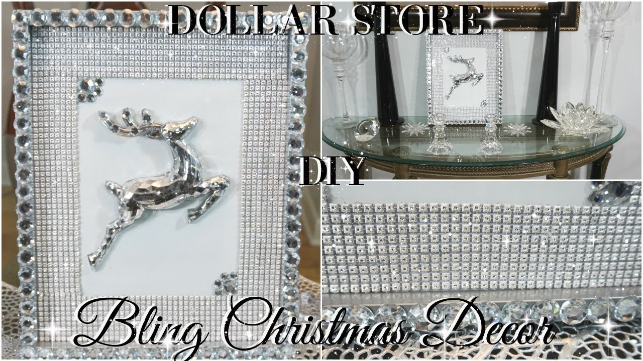 Diy dollar store glam christmas decor diy home decor diy wall hanging decor youtube - Dollar store home decor ideas pict ...