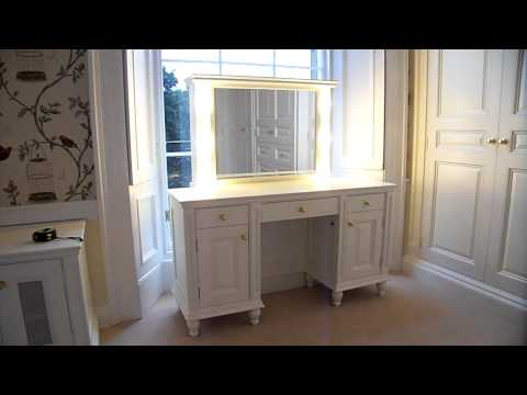 VERNY Dressing table with electric mirror lift and lights ...