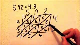 Multiplying Decimals Using The Lattice Method