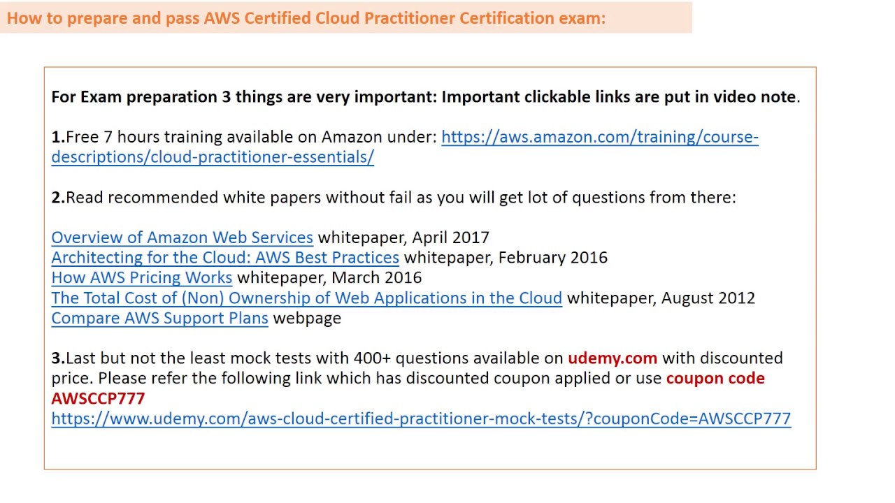 AWS: How to prepare and pass Certified Cloud Practitioner in 1st attempt