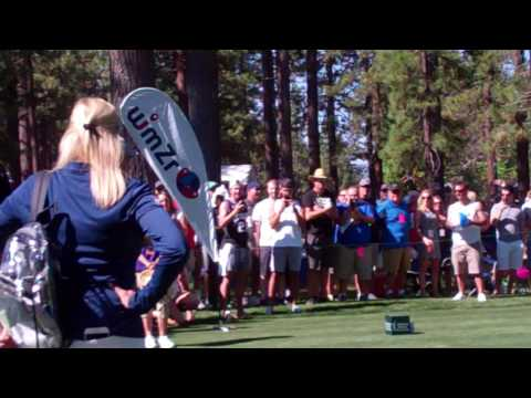 Stephen Curry Tees Off At 7th Hole,  2017 Lake Tahoe American Century Golf Event