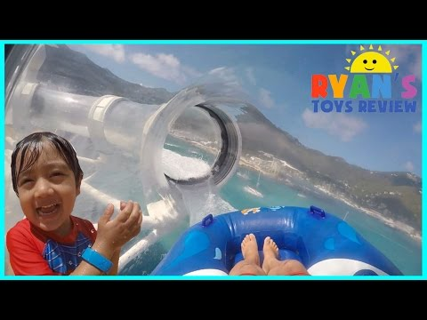 RollerCoaster Water Slide And Splash Pad On Disney Cruise Ship