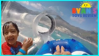 RollerCoaster Water Slide and splash pad on Disney Cruise Ship