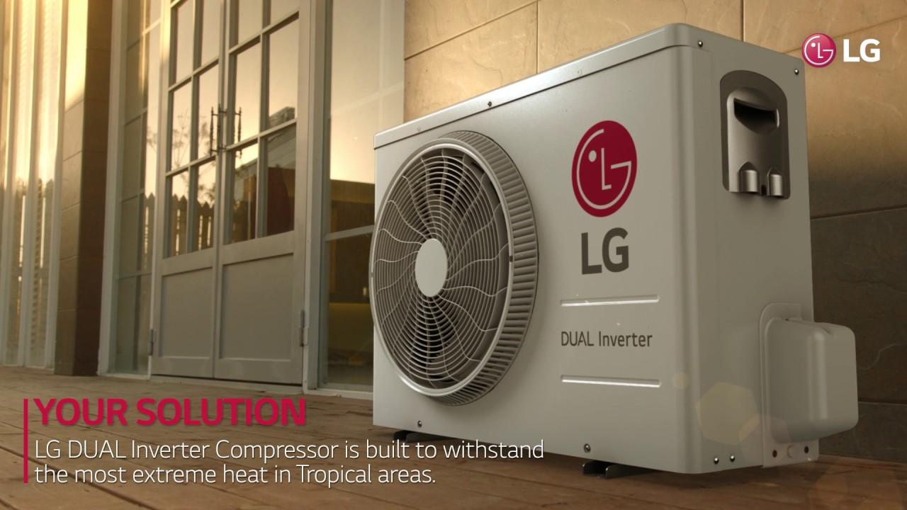 LG Dual Inverter Compressor - Built for Extreme Heat - دوال إنفيرتر من إل  جي- صمّم للحرارة الشديدة - YouTube