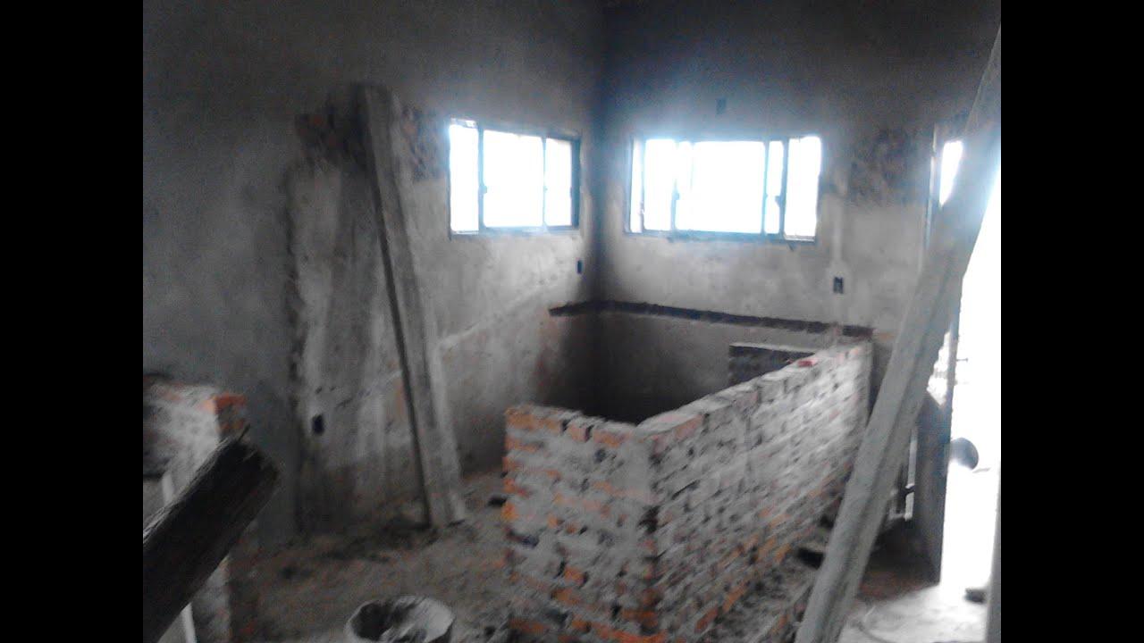 Cocina con isla continua parte 1 doovi for Desayunadores de concreto