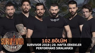 Survivor 2018 | 20. Hafta Erkekler Performans Sıralaması | 102. Bölüm | Survivor 2018