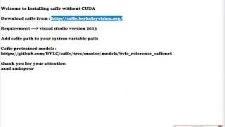 Caffe installation without Cuda