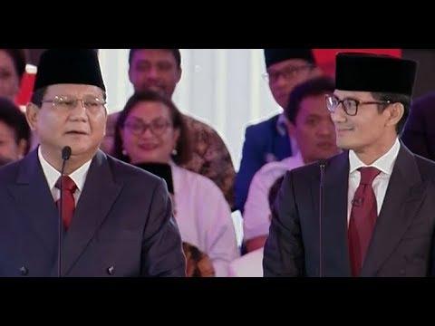 Prabowo Jelaskan Soal Partainya (Debat Pertama Pilpres 2019 - Bag 4)