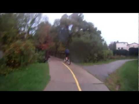 Bike Trail Oshawa riding with GoPro