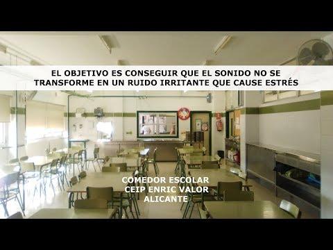 Insonorización del comedor escolar CEIP Enric Valor de Alicante