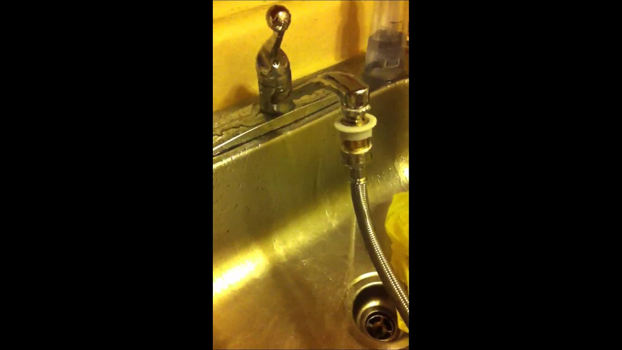 LG Washer Dryer Combo   Kitchen Faucet Leaky   YouTube
