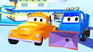 Tom der Abschleppwagen und der Schneepflug | Lastwagen Bau-Cartoon-Serie für Kinder
