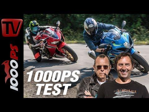 Suzuki GSX-R 1000 vs. Honda CBR1000RR Fireblade SP Test - Wenn der Asphalt brennt -