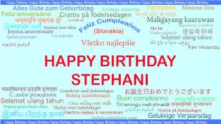 Stephani   Languages Idiomas - Happy Birthday