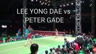 LEE YONG DAE vs PETER GADE single match(이용대 vs 피터게이트 단식)