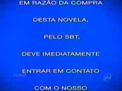 Aviso do SBT informando sobre a compra da novela Dona Beija SBT 2009