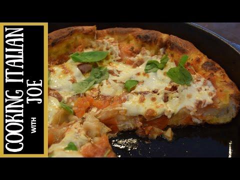 Homemade Pan Pizza Recipe Cooking Italian with Joe