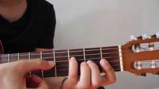 Como tocar Acorde de Fa SIN CEJILLA en guitarra