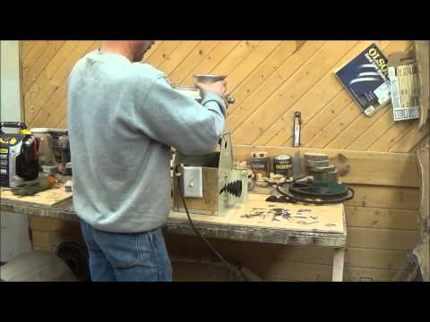 How to convert your hand crank meat grinder into an electric meat grinder.