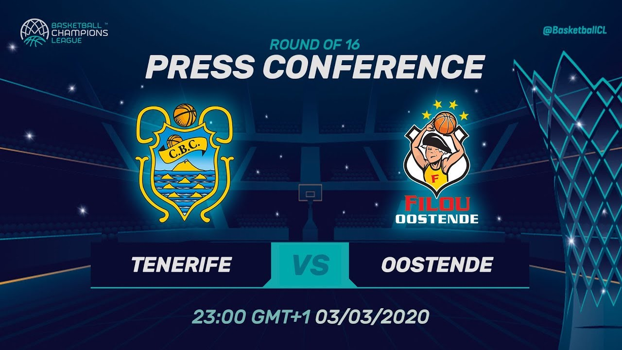 Iberostar Tenerife v Filou Oostende - Press Conference - Basketball Champions League 2019