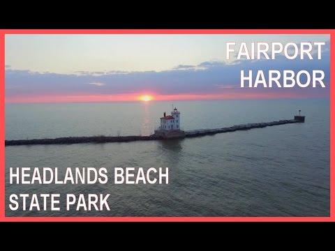 Fairport Harbor & Headlands Beach State Park Ohio - Drone Ohio