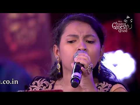 """Chinnada mallige hoove"" sung by Channappa and Anvita at 55th Bengaluru Ganesh Utsava"
