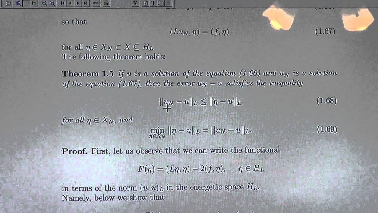 Lecture 4d Error Estimate of Ritz and Galerkin Methods