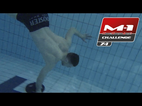 The German Terminator Stephan Puetz: Training in the pool