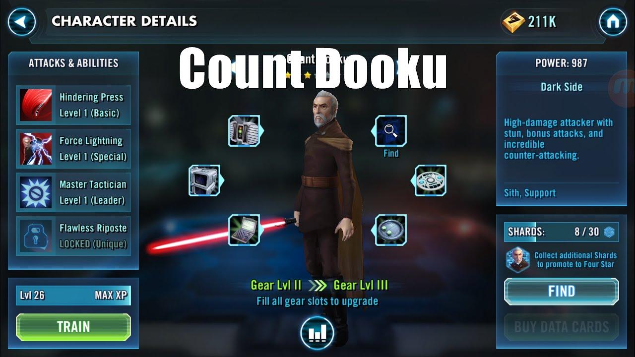 Star Wars Galaxy of Heroes: Count Dooku Zeta In-Depth ...