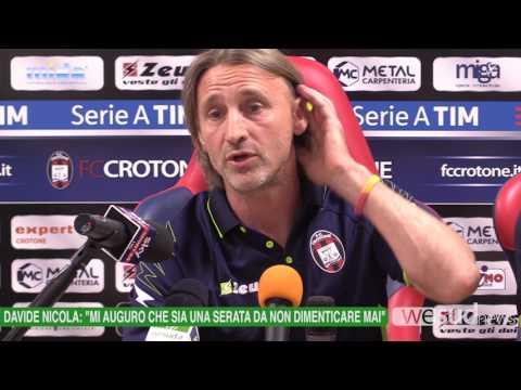 Davide Nicola prima di Crotone   Lazio