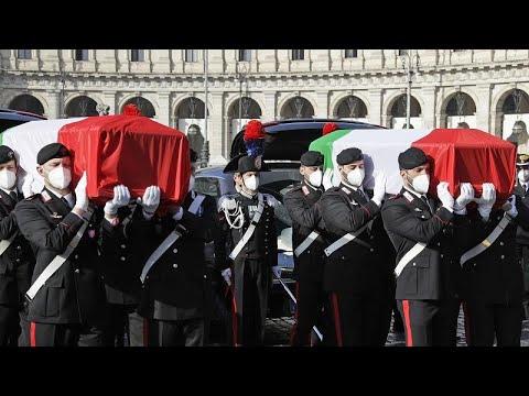 شاهد: جنازة رسمية للسفير الايطالي الذي قتل في جمهورية الكونغو الديموقراطية…  - نشر قبل 6 ساعة