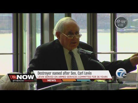 Navy destroyer to bear Senator Carl Levin's name
