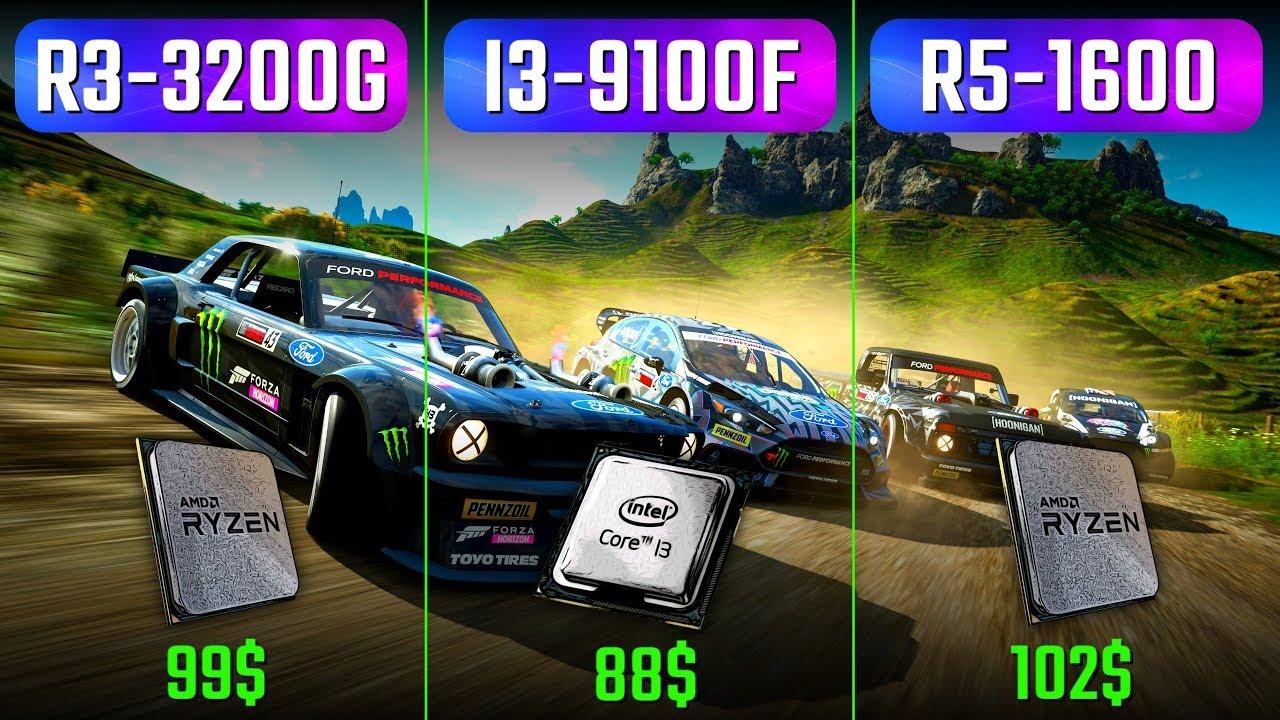 Ryzen 3200G vs. i3 9100F vs. Ryzen 1600 vs. RTX 2070 S