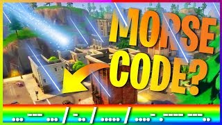 FORTNITE TILTED TOWERS METEOR MORSE CODE THEORY!