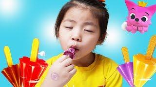 안되겠다 만들어 먹어야겠다!! 반전주의 서은이의 아이스크림 만들기 핑크퐁 팽이팽이 Making Pinkfong Top-shaped Ice Cream